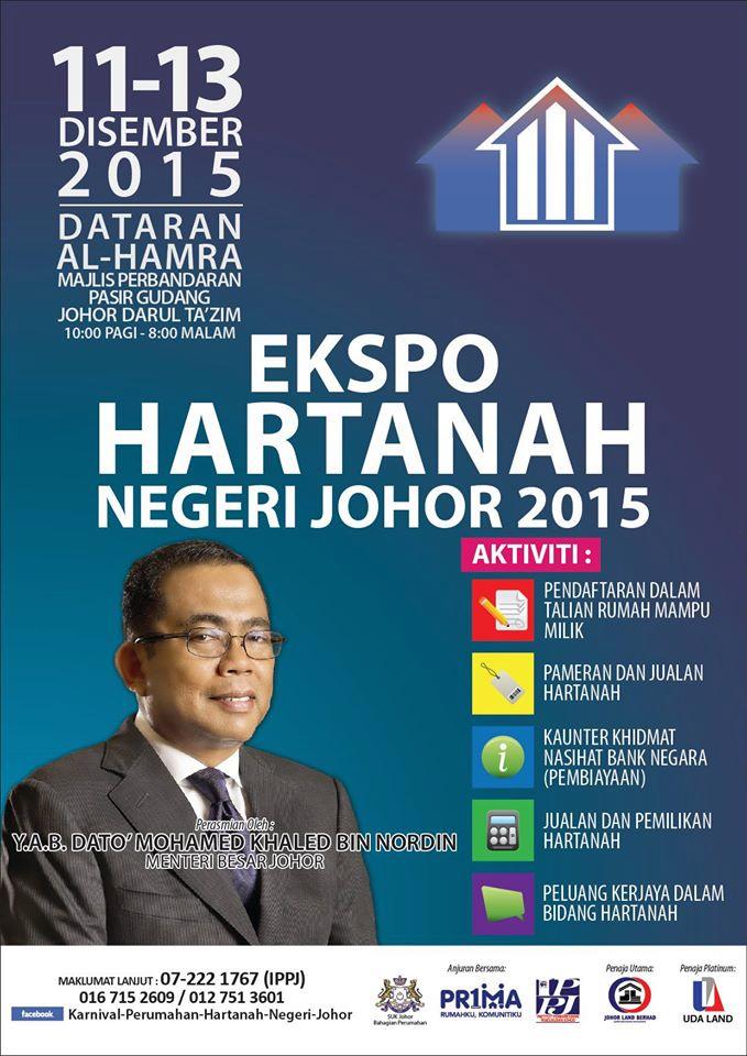 Ekspo Hartanah Negeri Johor 2015, tarikh dan acara