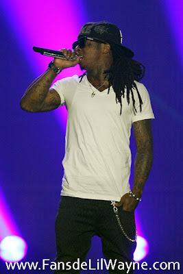 Foto de Lil Wayne en uno de los conciertos de la gira I Am Music Tour II