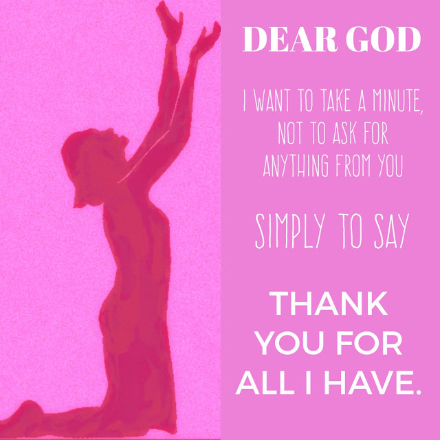 We have so much for which to thank God everyday