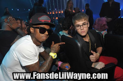 fotos de lil wayne con justin bieber mtv video music awards 2011