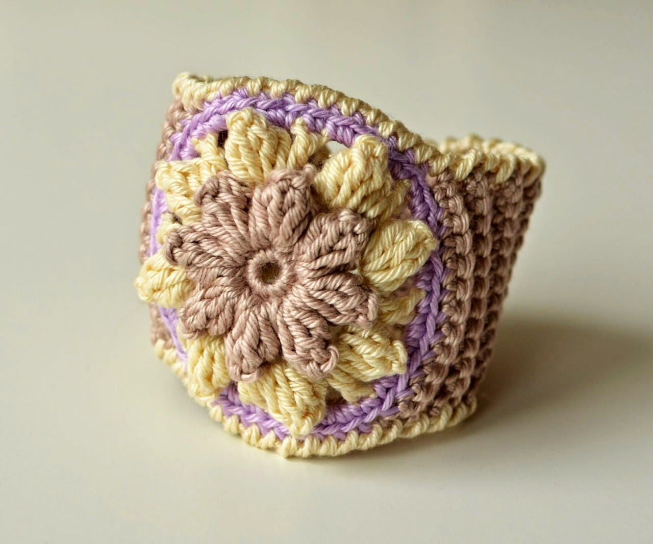 Crocheted Bracelet with Mandala