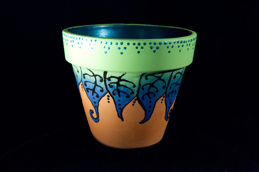 lauren petrovic photography hand painted terracotta pots
