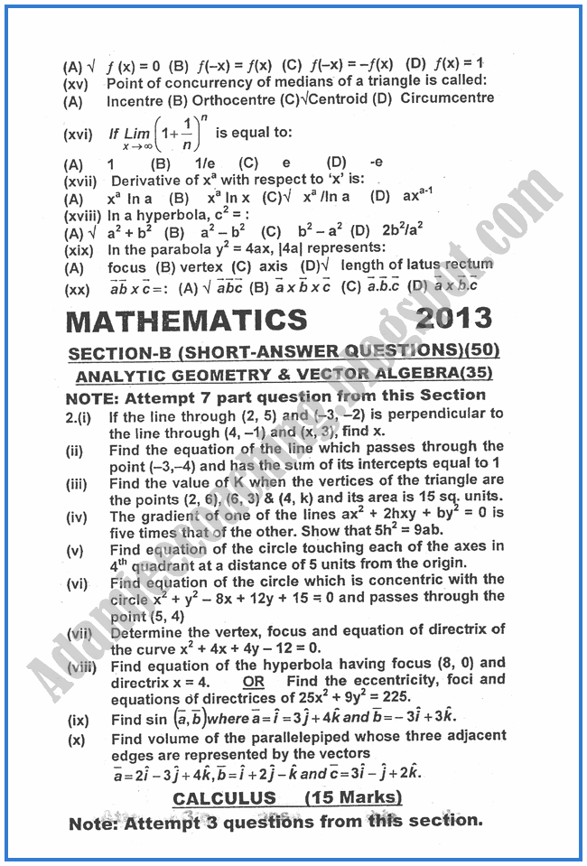 Mathematics-2013-past-year-paper-class-XII