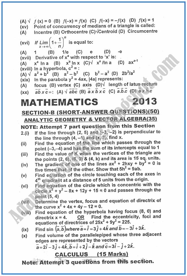 Mathematics-2013-past-year-paper-class-XII