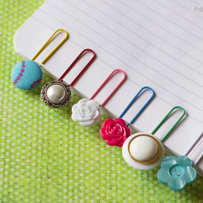 Cute Button Bookmarks