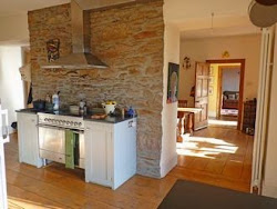 Exposed stonework in the kitchen