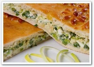 Майский пирог с зеленым луком