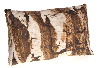 Ella Doran Exclusive Brown Bark Cushion Design for Kew Royal Botanical Gardens