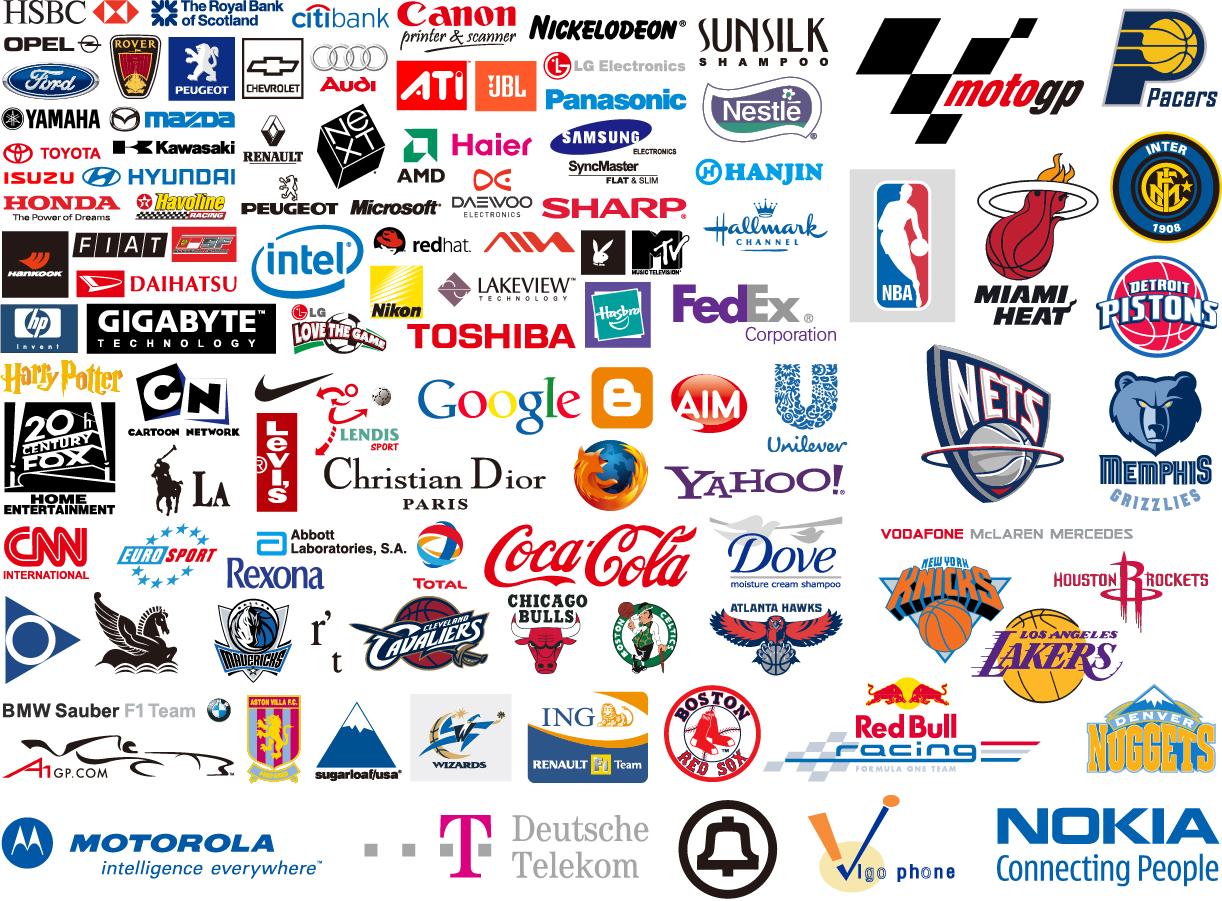 世界の有名企業のロゴ デザイン world famous brand logo vector イラスト素材