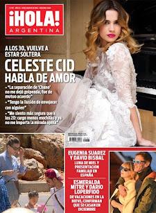 Revista HOLA Argentina. Tapa Celeste Cid habla del amor. 19 de Agosto de 2014