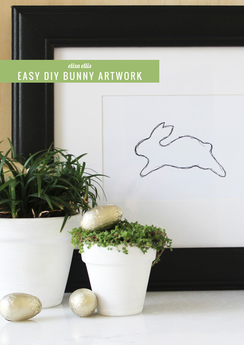 Easy DIY Bunny Artwork by Eliza Ellis