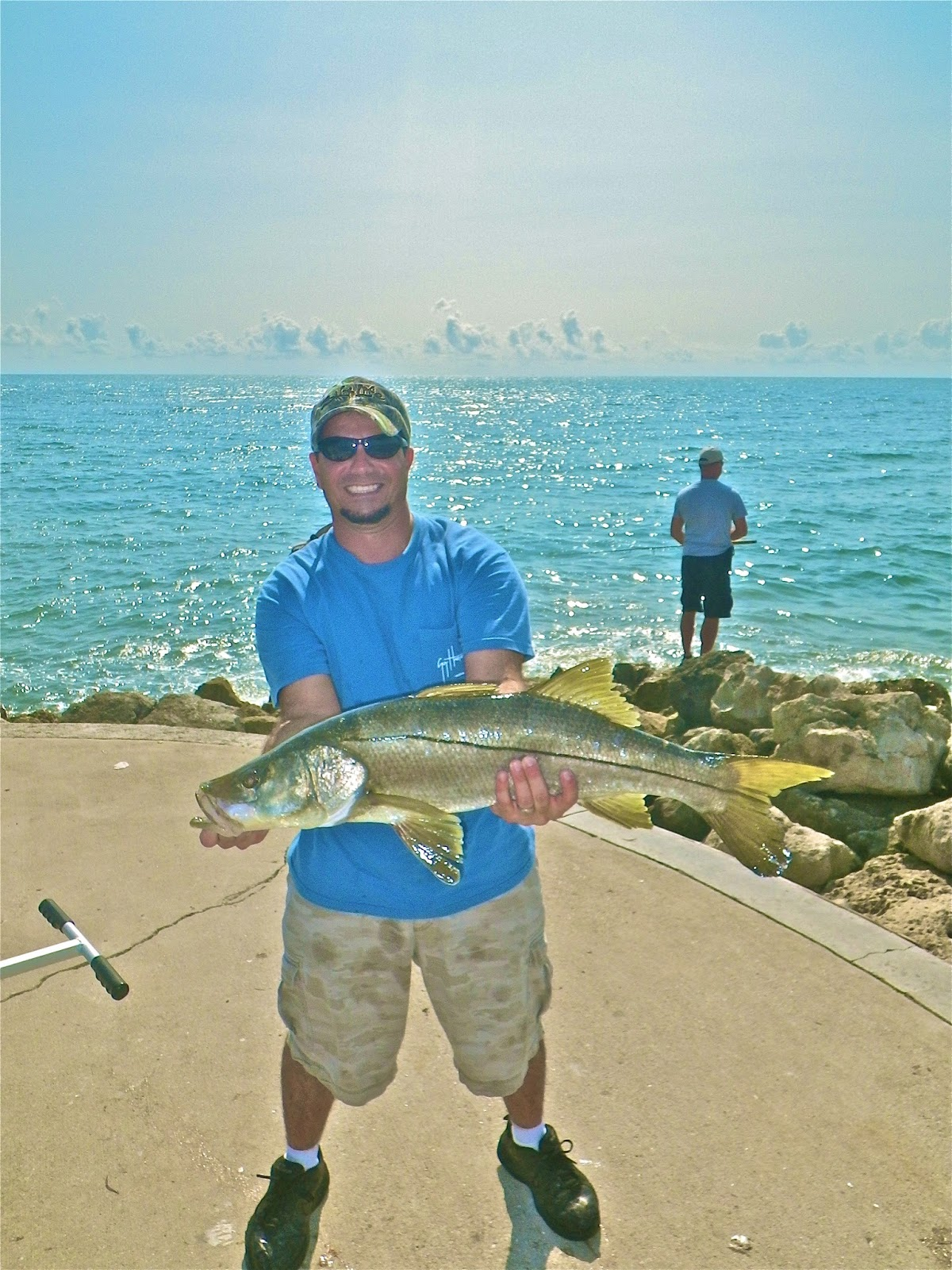 On foot angler from whites tackle stuart ft pierce for Fort pierce fishing
