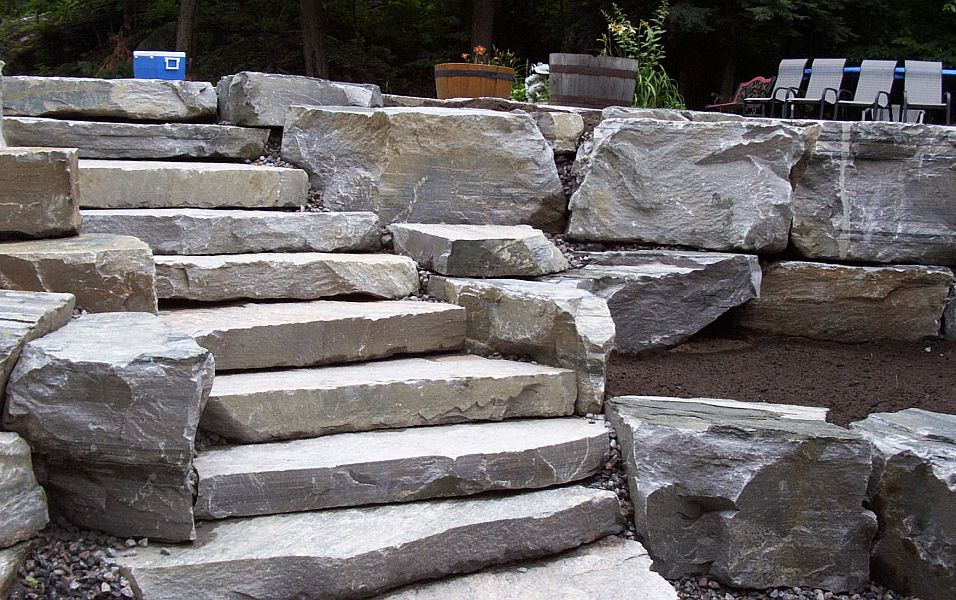 Natural Building Stone Steps : Dry stone building