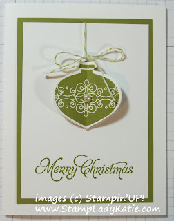 3D Card made with the Ornament Punch and Tags Til Christmas Stamp Set