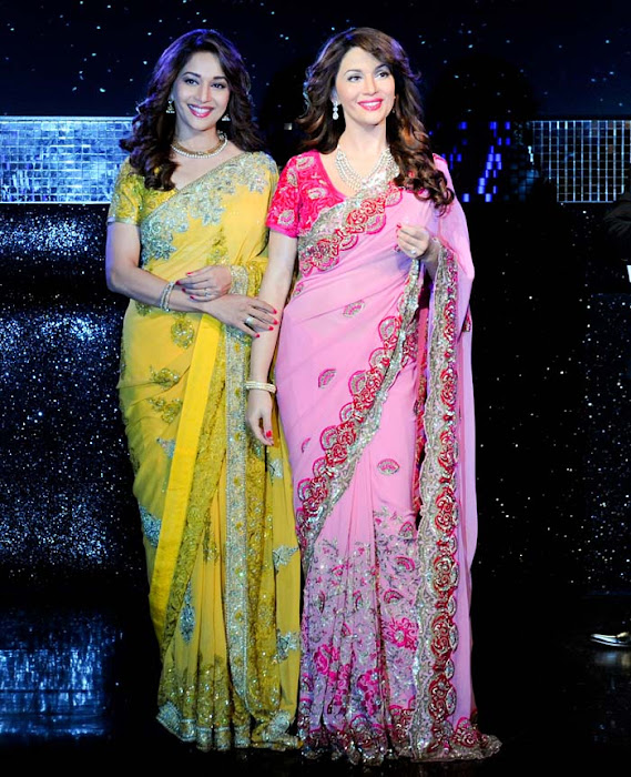 madhuri dixit wax statue at madame tussauds actress pics