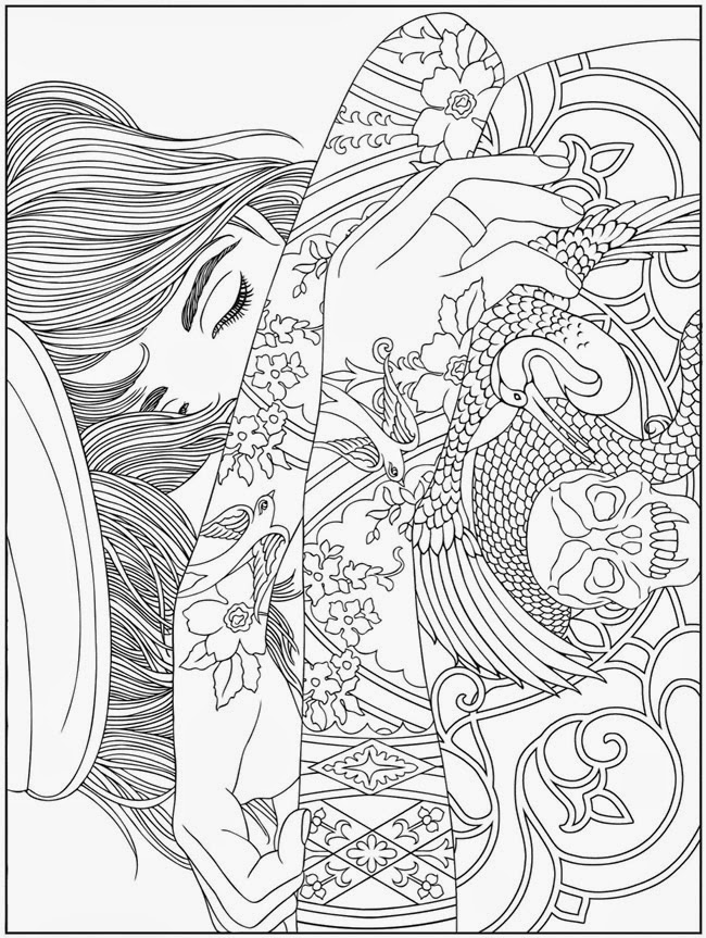 free abstract animals coloring pages