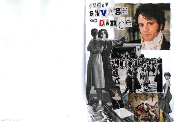 aliciasivert alicia sivertsson collage sköna hem drömhem och trädgård dagens nyheter scrapbook scrap book mr darcy jane austen dance dans dansa