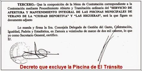 Laequivocaci n radicaba en varios frentes for Piscina sindical zamora