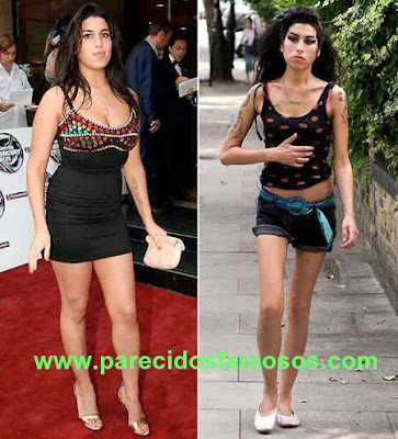 Amy Winehouse Antes y después