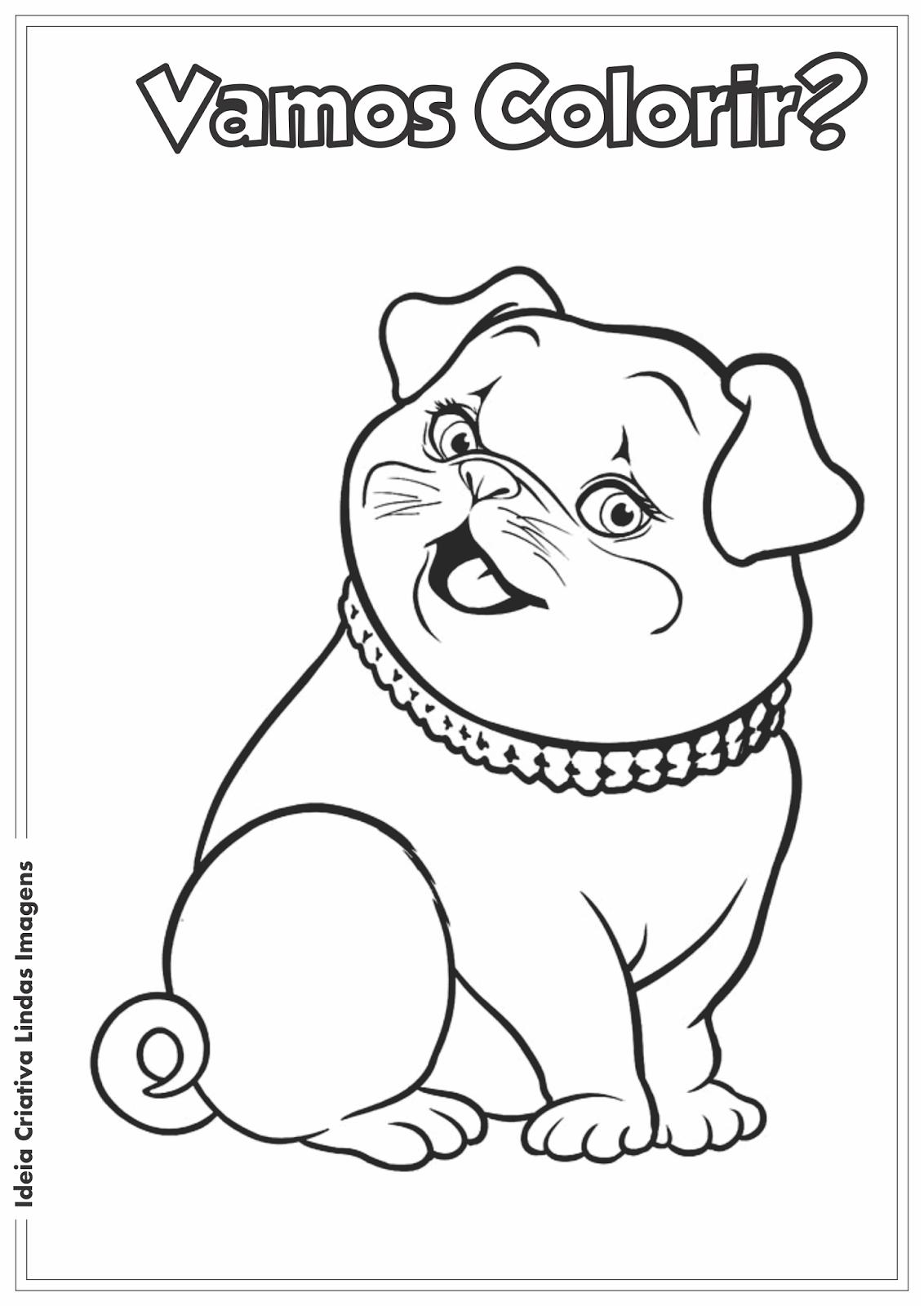 Desenho para colorir - Barbie Thumbelina