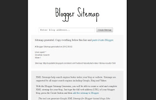 Blogger sitemap Generator
