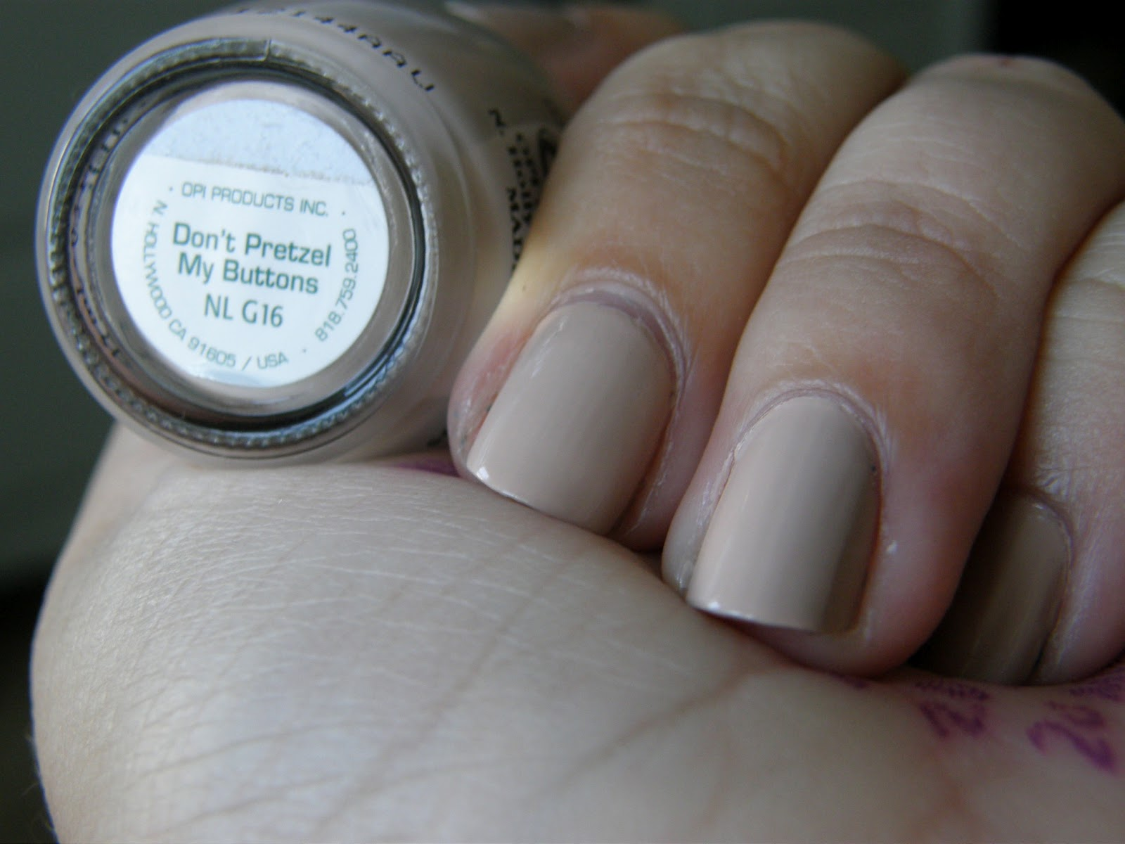 Thrift Thick: NOTD: O.P.I. Don\'t Pretzel My Buttons!