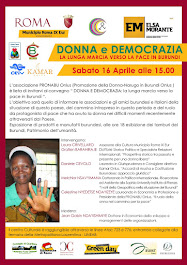 16 APRILE, ore 15,00 - LA LUNGA MARCIA DELLA PACE IN BURUNDI aggiornare sulla situazione in Burundi