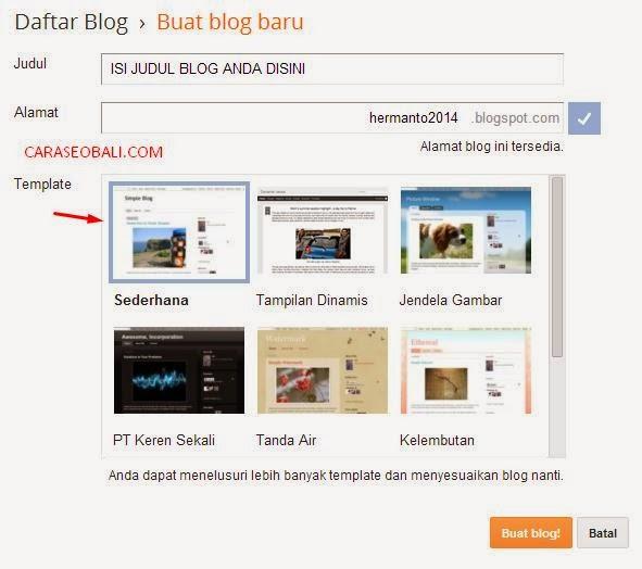 cara cepat membuat blog pribadi