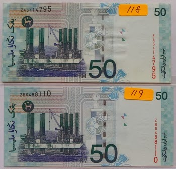 Malaysia 10th Series Replacement RM50 ZA