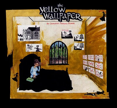 the use of symbolism in the novel the yellow wallpaper by charlotte perkins gilman In writing 'the yellow wallpaper' charlotte perkins gilman is making a stand at   the paper, is symbolic of the narrator in the story finally breaking free from the.