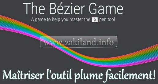 bézier game outil plume pen photoshop gimp