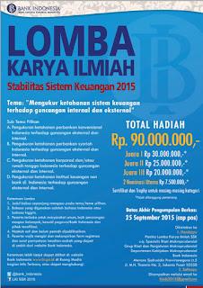 Lomba Karya Ilmiah Stabilitas Sistem Keuangan (LKI SSK) BI 2015