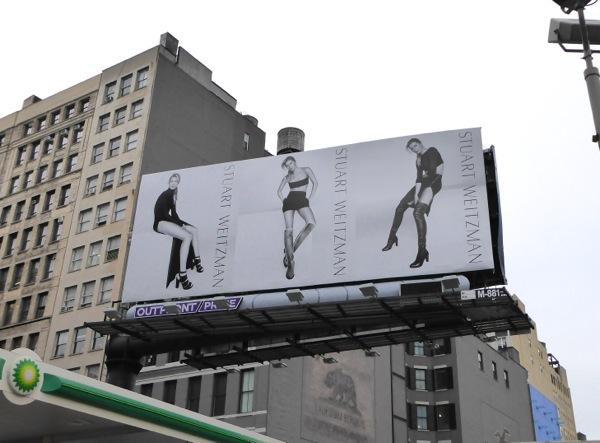 Stuart Weitzman Gisele Bundchen FW15 shoes billboard
