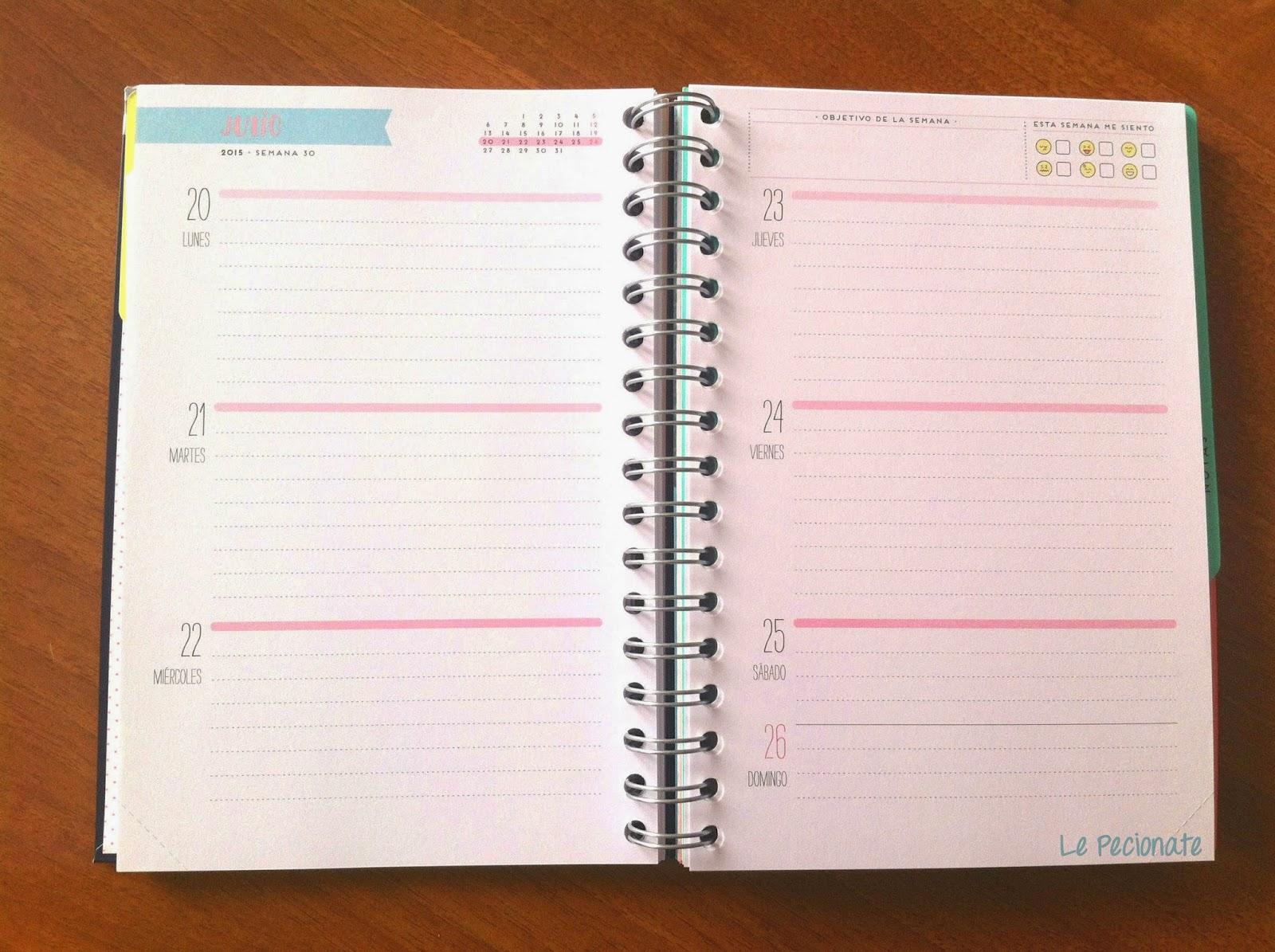 La mia agenda Mr Wonderful. Il planner settimanale | pecionate.blogspot.com