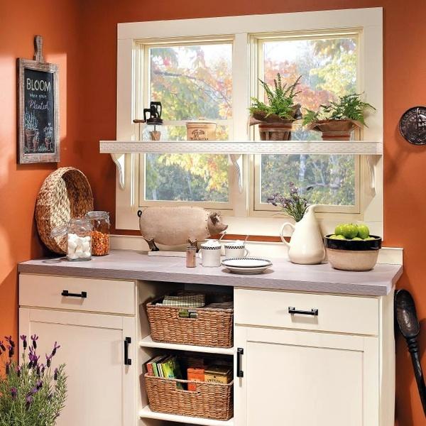 Kitchen Shelves Over Windows: Toques E Retoques: Prateleiras Na Janela Da Cozinha #1