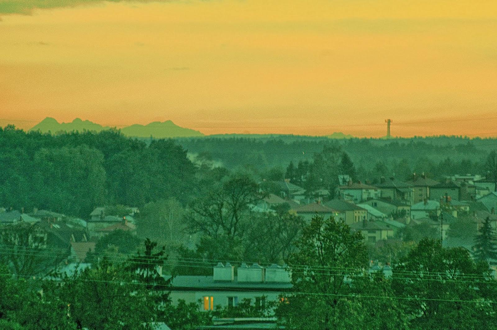 Kolbuszowa, widok na Tatry, Płaskowyż Kolbuszowski, Puszcza Sandomierska