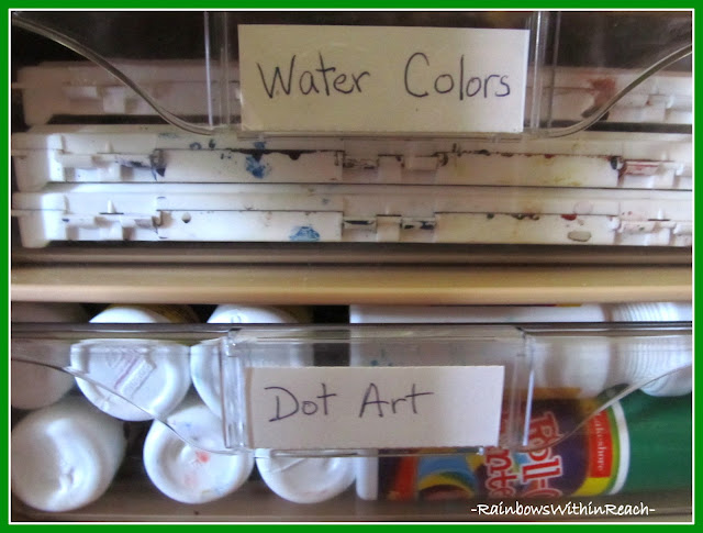 photo of: Organizing Art Supplies