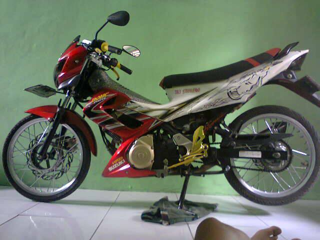 modifikasi satria f degan air brush full body 2 modifikasi satria f  title=