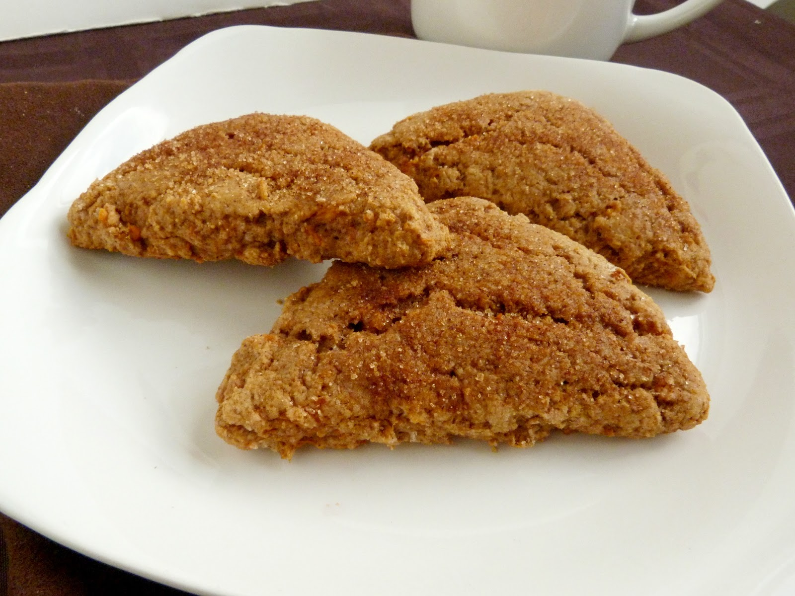 Vanilla & Spice: Sweet Potato Cinnamon Scones