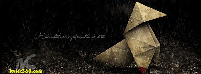 Ảnh bìa cho Facebook mưa | Cover FB timeline rain, bản chất con người vốn cô đơn