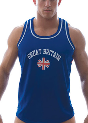 GBGB Wear City Tank Great Britain Royal Blue Menswear