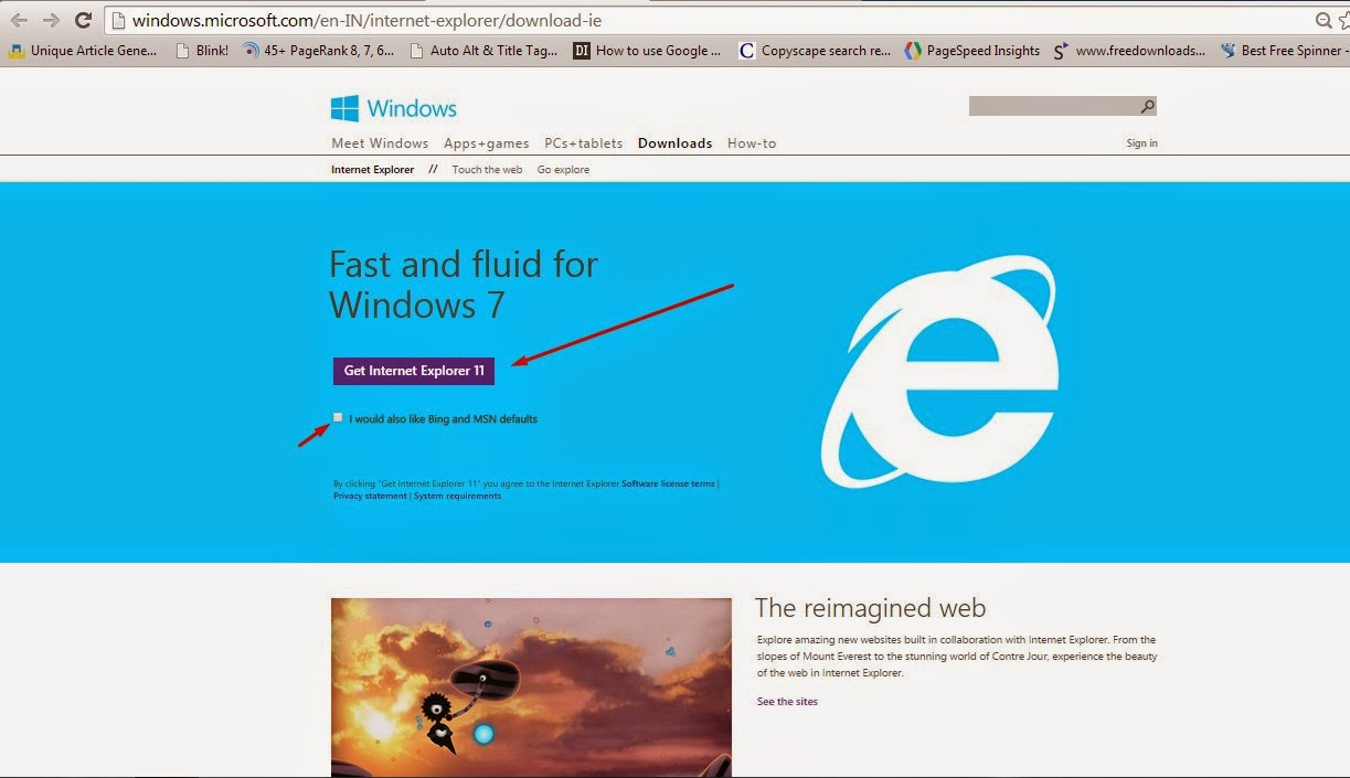 free download ie 8