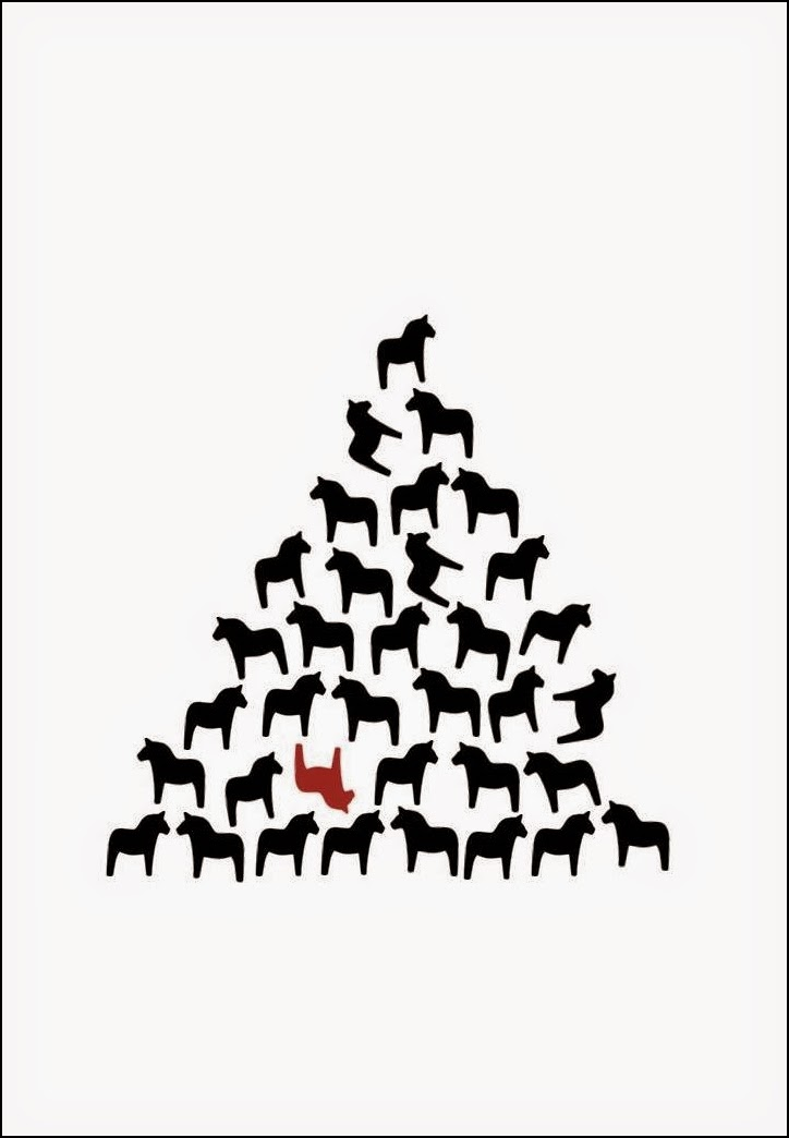 dalahäst, dalahästar, dalahäststavla, pyramid, tavla, prints, grafisk, poster