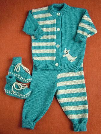 Вязаная одежда: костюмчики для новорожденного. Санкт-Петербург
