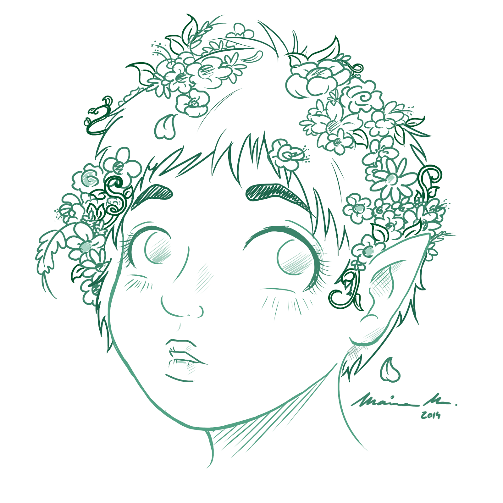 pixie hair fairy flower