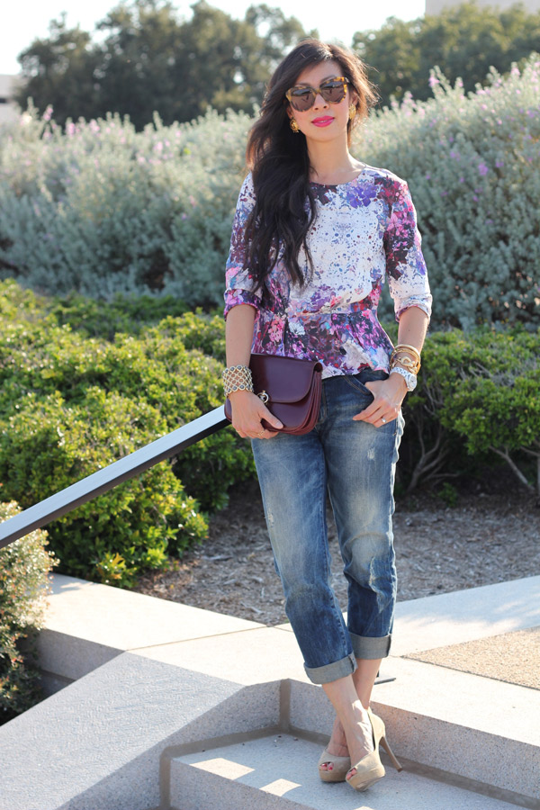 style of sam, lana del ray collection, H&M peplum, Zara distressed jeans, YSL platform peeptoes, vintage Celine bag