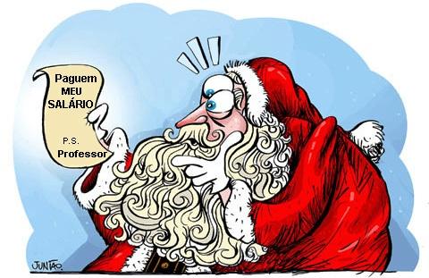 Charge: Presente para o Professor no Natal!