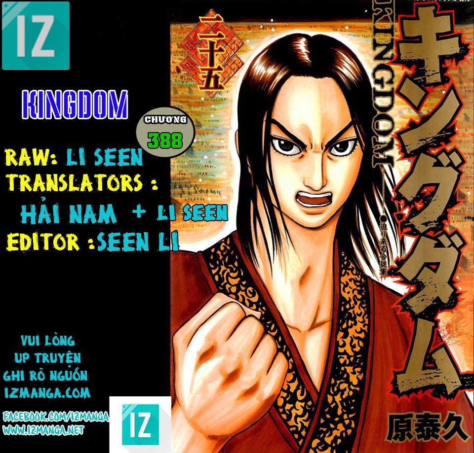 Kingdom – Vương Giả Thiên Hạ (Tổng Hợp) chap 388 page 1 - IZTruyenTranh.com