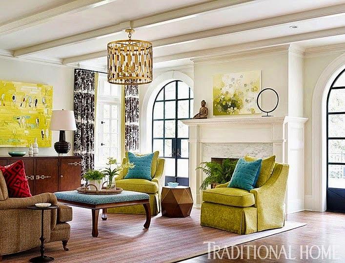 Яркий дизайн интерьера дома в Атланте