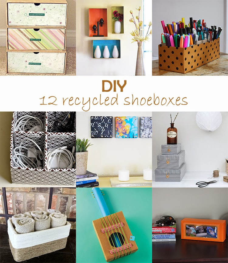 Diy monday recycled shoeboxes ohoh blog for Diy recycle ideas